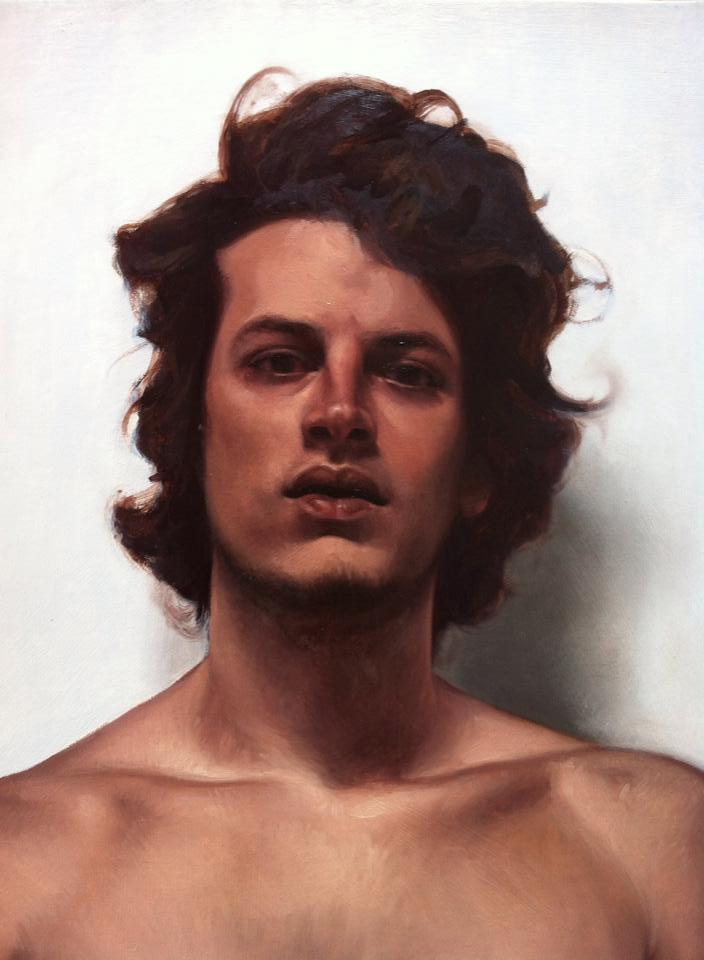 2014 - Young Man 50x40cm Oil Canvas